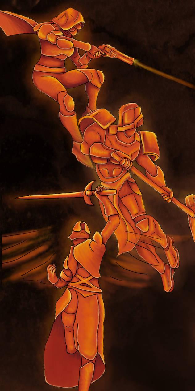 Fire with Fire   Destiny 2 Fan Art by QueenBrunette