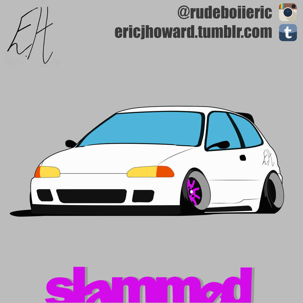 Honda Civic Eg Drawing