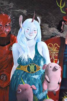 SmokeUnicorn with Unicorned turtled piglets