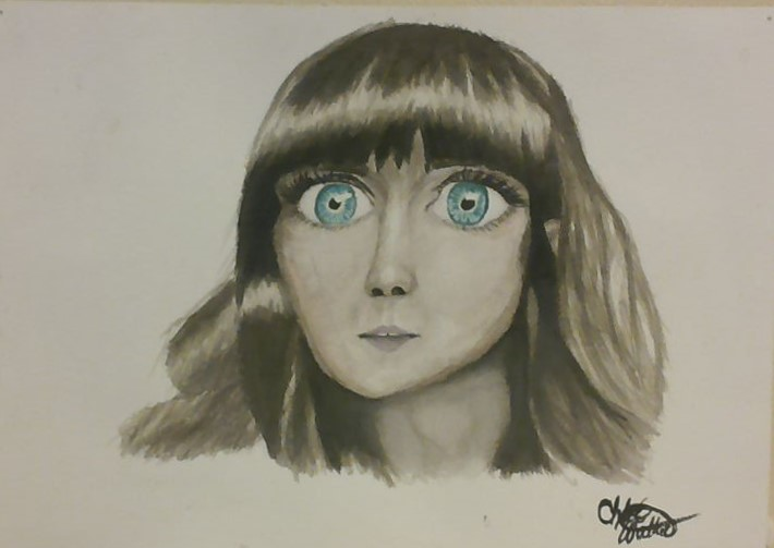 Wide-Eyed Zoey Deschanel by kontently-kerbobled