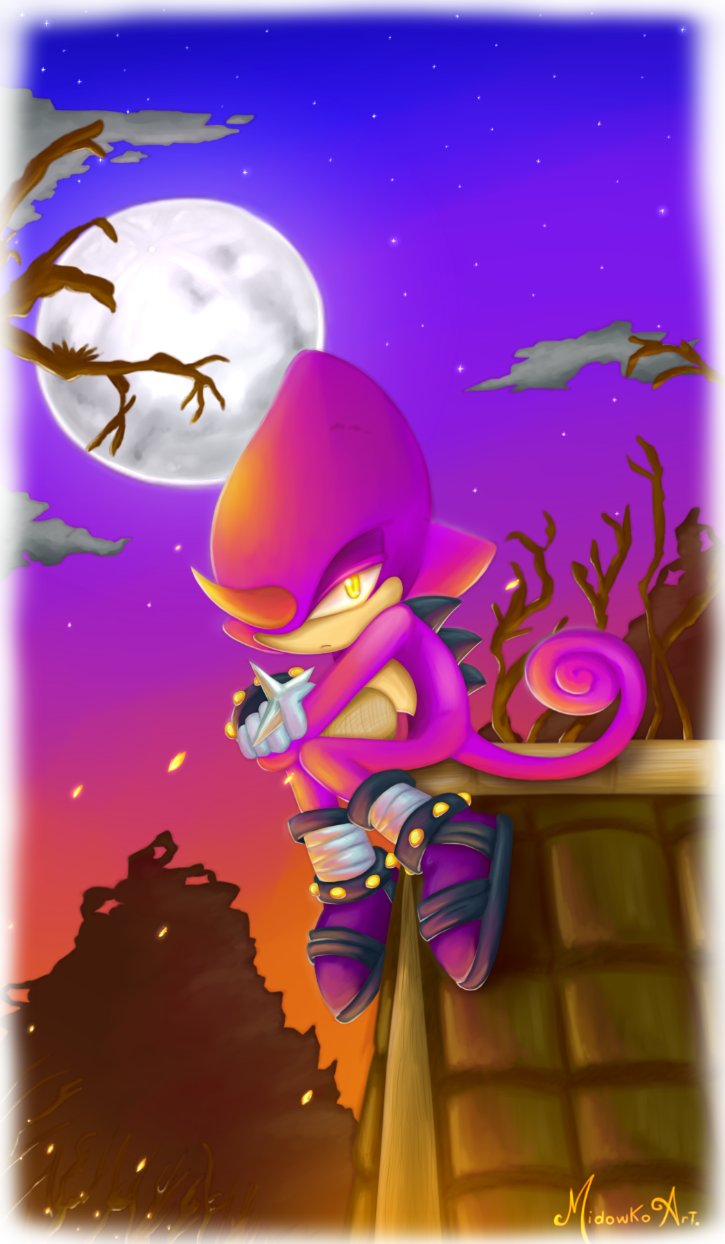 Espio the chameleon by Midowko