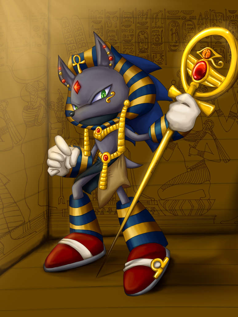 anubis the blue hedgehog by Midowko