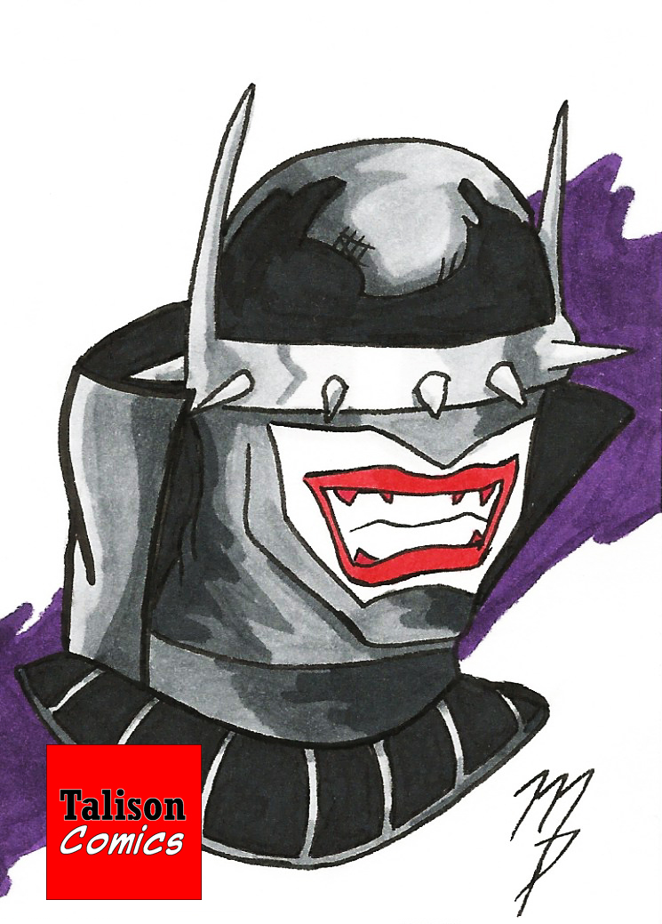 Batman Who Laughs Sketch Card by TalisonComics
