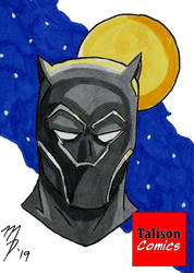 Black Panther Sketch Card by TalisonComics