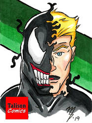 Venom Sketch Card by TalisonComics