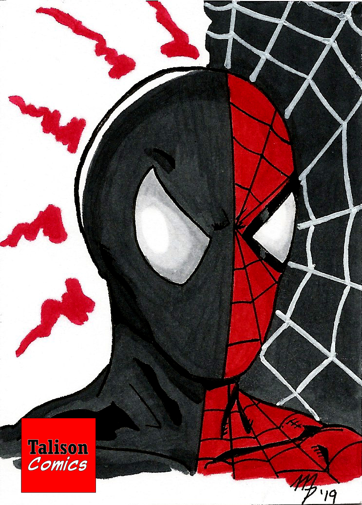 Spider-Man Split Sketch Card by TalisonComics