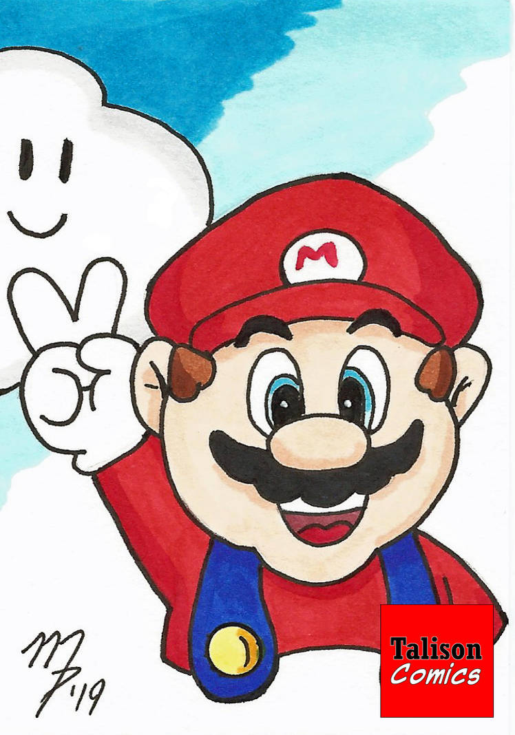 Mario Sketch Card by TalisonComics