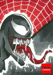 Drooling Venom Sketch Card by TalisonComics