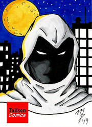 Moon Knight Sketch Card by TalisonComics