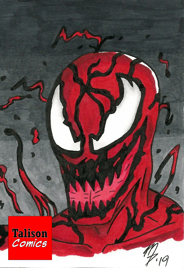 Carnage Sketch Card by TalisonComics