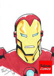Classic Iron Man Sketch Card by TalisonComics