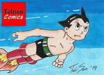 Astro Boy Flying Sketch Card by TalisonComics
