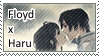 Floyd x Haru Stamp by azulann
