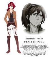 Fallon Character Sheet (AoT OC) Basics by azulann