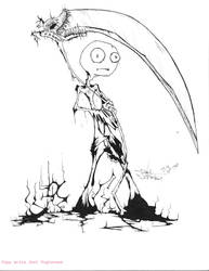 Round Head Reaper Man by Thedarkdragan9