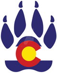 Colorado Wolf Paw Print Decal