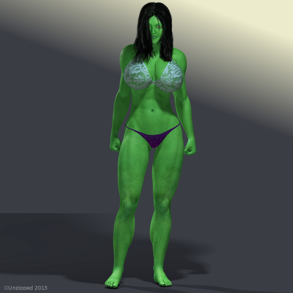 Hulk Body Paint Nude