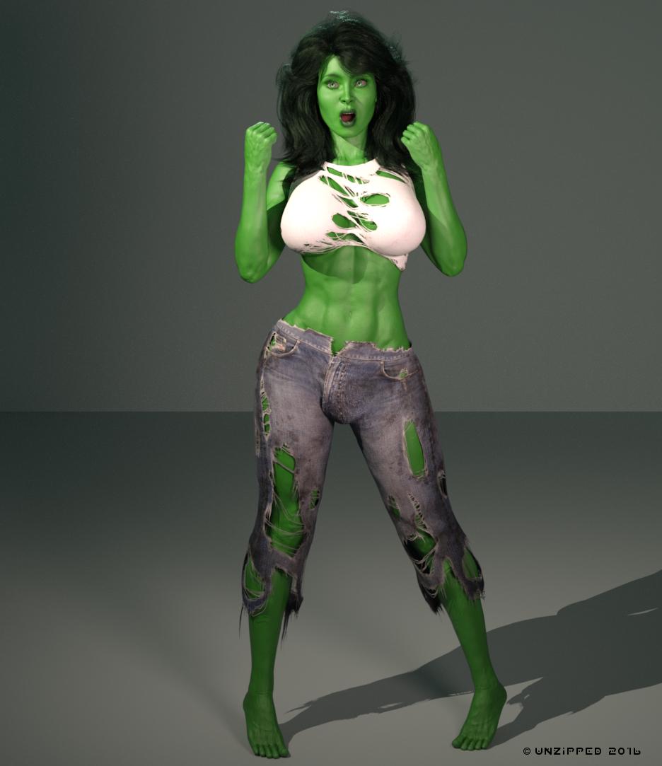 Massive she hulk transformation