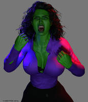 She Hulk - Sona-hulk-out-1 by shulkophile