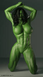 She Hulk Melissa-4002b by shulkophile