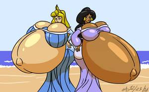 Pair o Preggy Princesses by ArchangelDreadnought