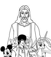 Jesus Christ J-Man and the Crossover Cartoon