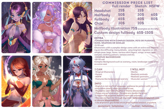 [OPEN] COMMISSION PRICE LIST