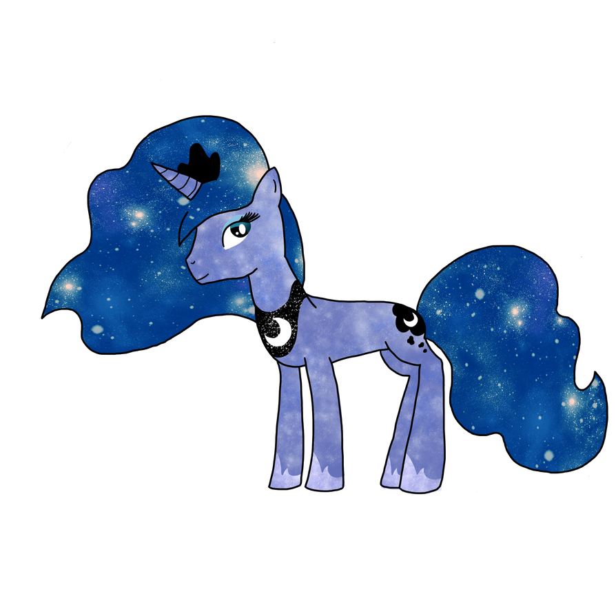 Princess Luna as a Unicorn by vocaloid-fanatic