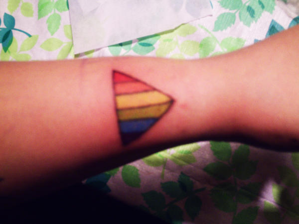 gay pride triangle by squid ink tattoos on deviantart