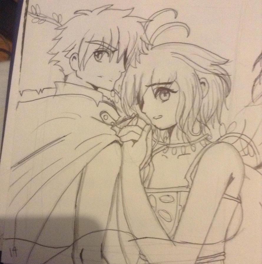 Tsubasa Chronicles sketch by angel-light123
