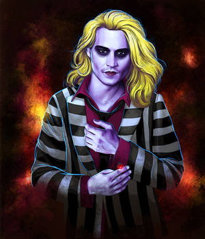 its show time! Johnny Depp as Beetlejuice