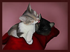 Peluche and Abby by FenixiaVSLouvi
