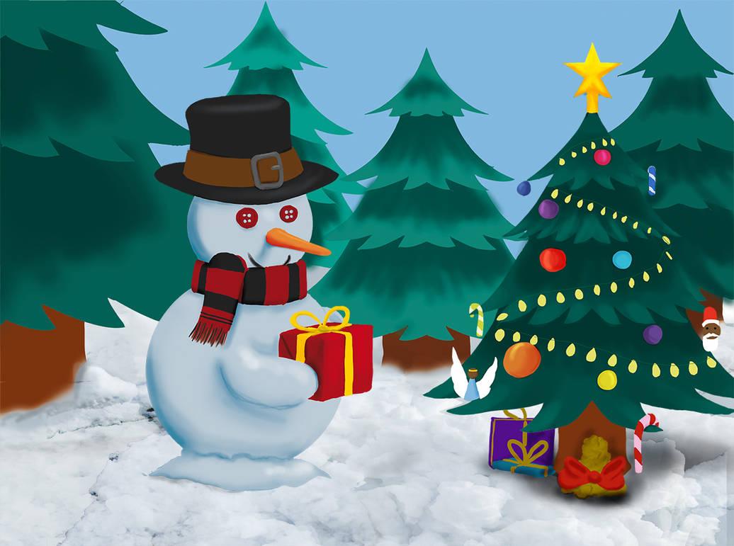 Bonhomme de Neige / Snowman by FenixiaVSLouvi
