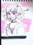 Random Girl doodle