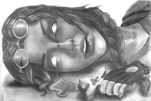Lara Croft and the Cursed Cross Artwork