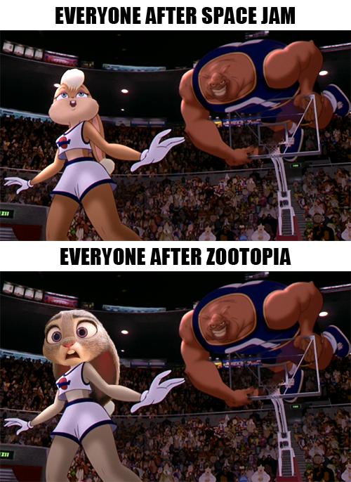 Space Jam Zootopia History Repeats Itself by GojiBob