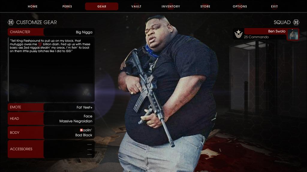 Big Nigga in Killing Floor 2 by GojiBob
