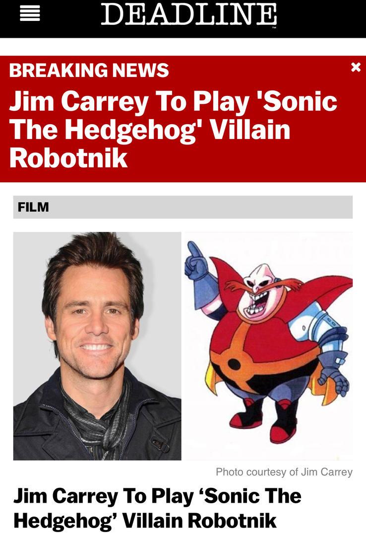 Jim Carrey To Play Robotnik by GojiBob
