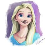 Elsa Paint practice by 4iana
