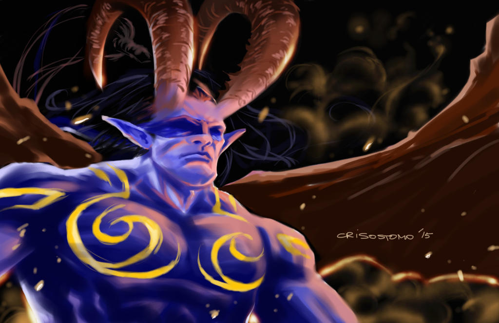 Illidan paint by denart