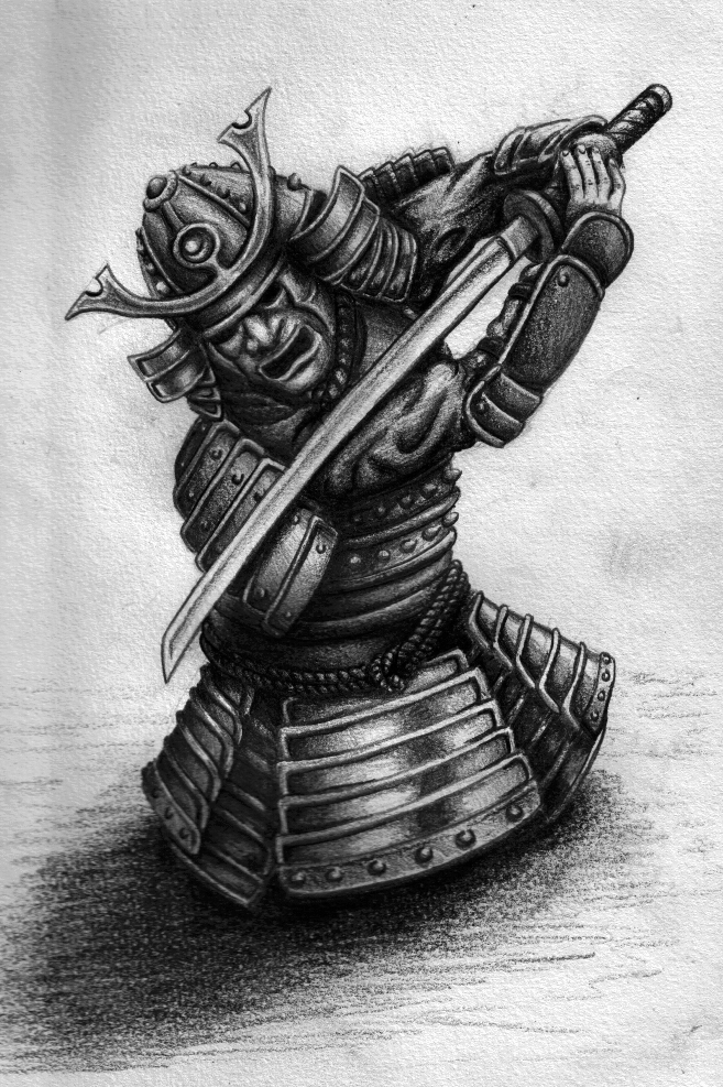This is a photo of Amazing Samurai Warrior Drawing