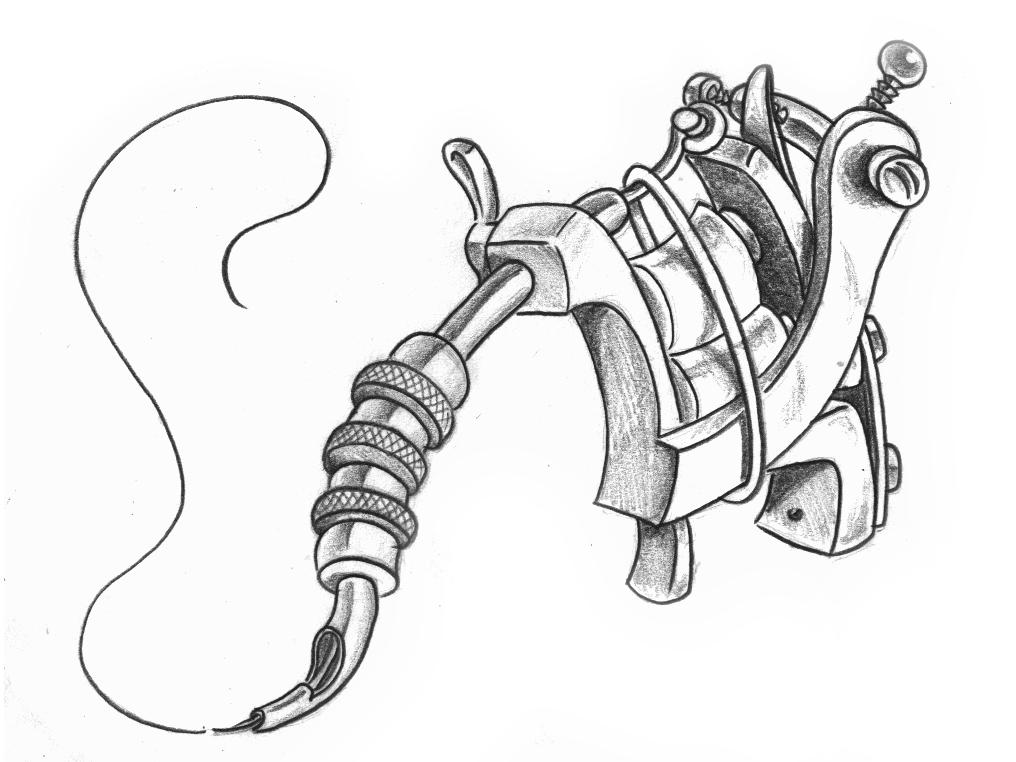 Tattoo Gun sketch by
