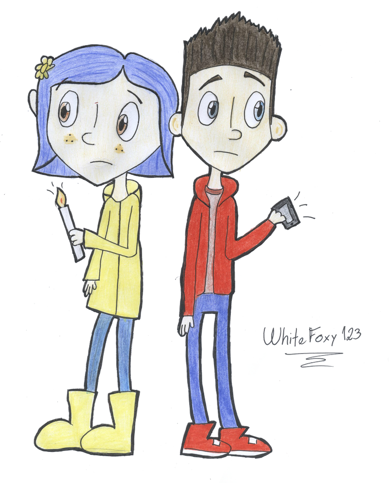 Norman And Coraline Kiss: Norman And Coraline By WhiteFoxy123 On DeviantArt