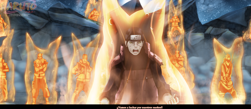 Naruto 649 - Hashirama Kyubi Chakra by HikariNoGiri