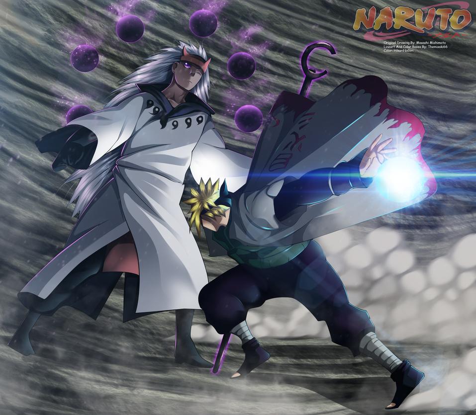Naruto 665 - Minato Rasengan by HikariNoGiri