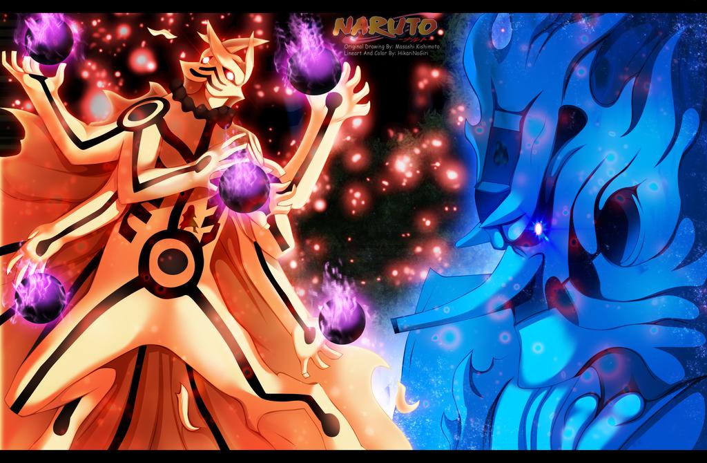Naruto 670 - Ashura Vs Indra by HikariNoGiri