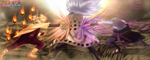 Naruto 674 - Naruto And Sasuke Attack by HikariNoGiri