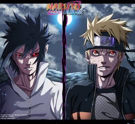 Naruto 693 - Naruto Vs Sasuke by HikariNoGiri