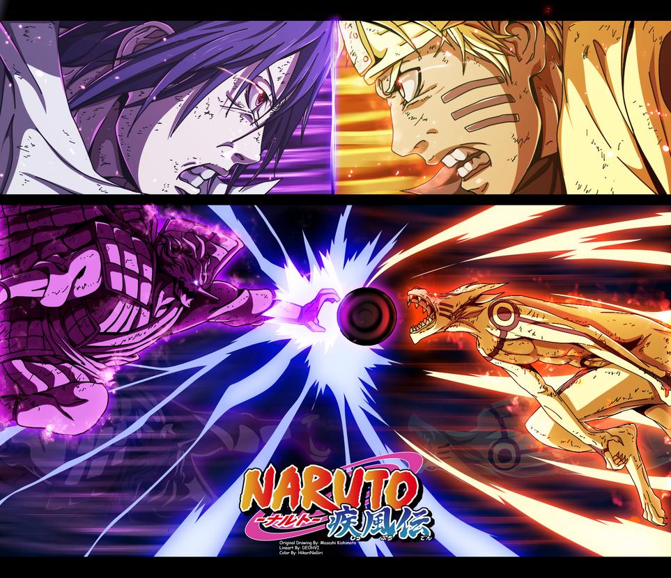 Naruto 695 - Epic Fight!!!! by HikariNoGiri