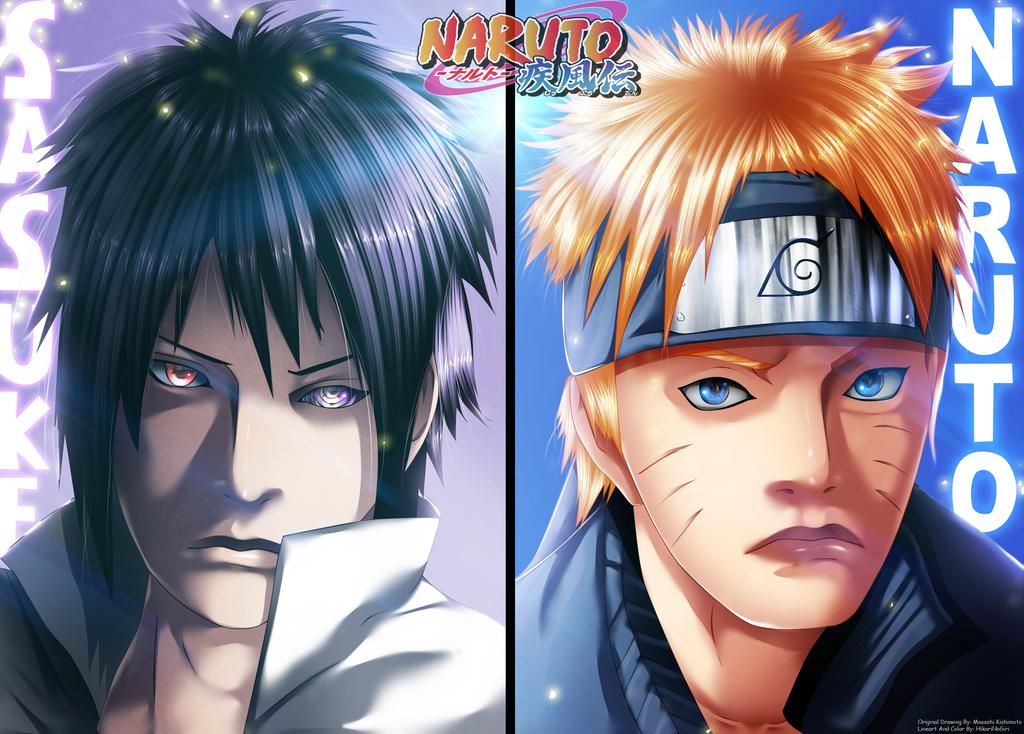 Naruto 695 - Sasuke And Naruto by HikariNoGiri